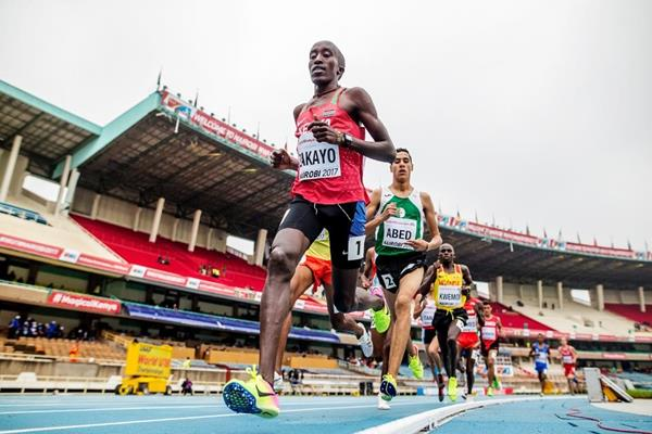Edward Zakayo in the 3000m at the IAAF World U18 Championships Nairobi 2017 (Getty Images)