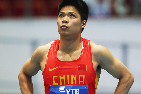 China's Su Bingtian at the IAAF World Indoor Championships in Sopot (Getty Images)