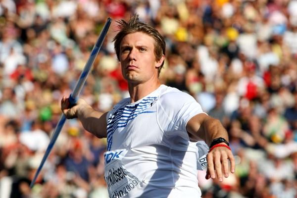 Andreas Thorkildsen of Norway throws a season's best of 89.59m to win the men's Javelin Throw final at the IAAF World Championships (Getty Images)