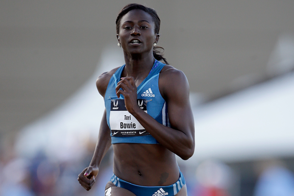 Tori Bowie in action at the US Championships (Getty Images)
