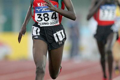 Veronica Nyaruai of Kenya winner of the women's 3000m in Beijing (Getty Images)