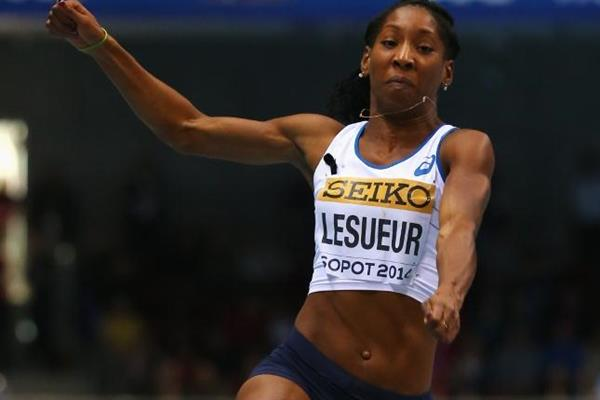 Eloyse Lesueur in the long jump at the 2014 IAAF World Indoor Championships (Getty Images)