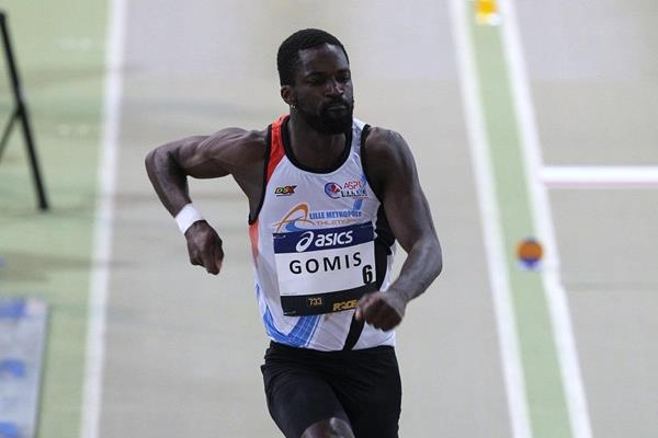 Kafetien Gomis at the 2016 French indoor championships (Jean-Pierre Durand)