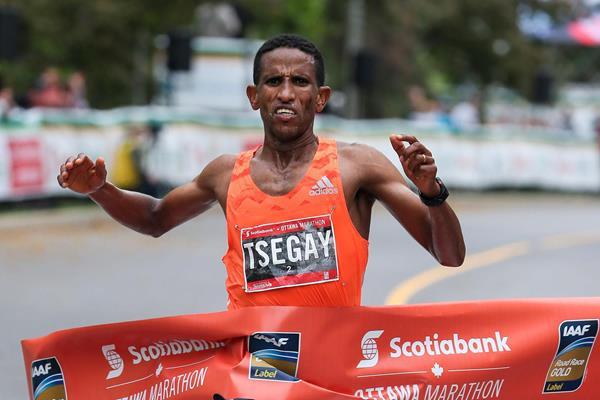 Another Ottawa Marathon victory for Yemane Tsegay  (Kevin Morris (organisers))