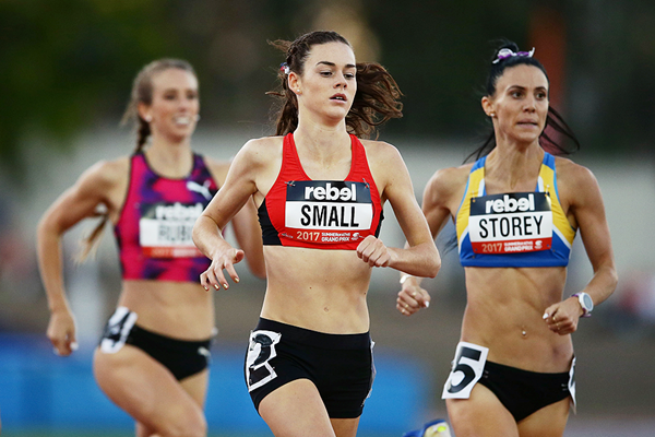 Keely Small on her way to winning the 800m in Canberra (Getty Images)