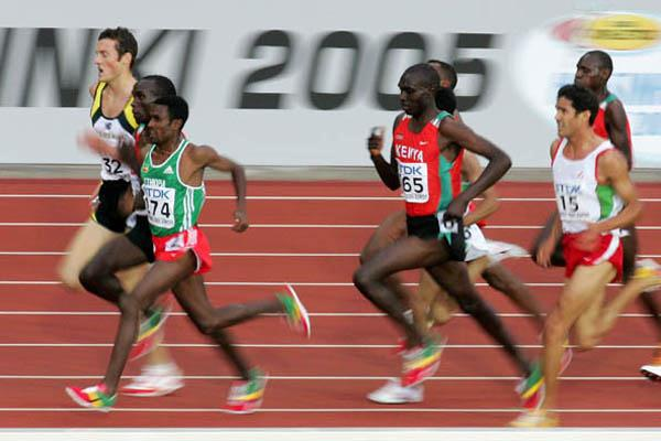Athletes' final sprint in the men's 5000m (Getty Images)