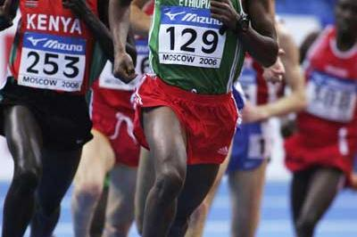 Kenenisa Bekele of Ethiopia in action during the men's 3000m heats (Getty Images)