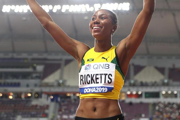 Shanieka Ricketts at the IAAF World Athletics Championships Doha 2019 (Getty Images)
