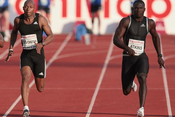 World silver medallist Derrick Atkins wins the 100m in Oslo (Getty Images)