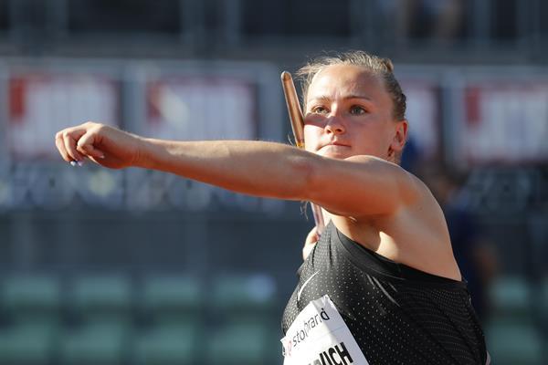 Belarusian javelin thrower Tatsiana Khaladovich (AFP / Getty Images)