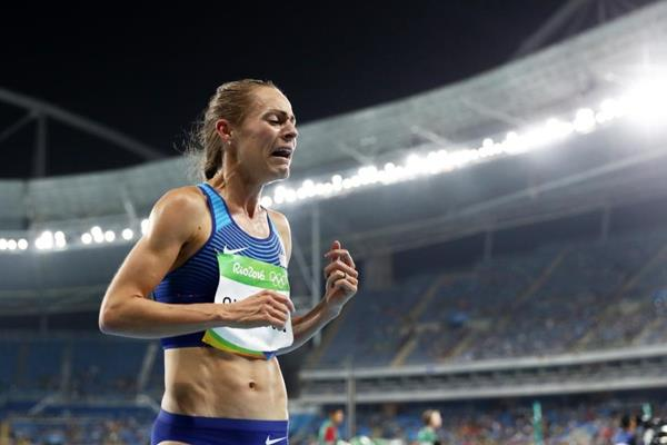 Jenny Simpson after taking bronze in the 1500m at the Rio 2016 Olympic Games (Getty Images)