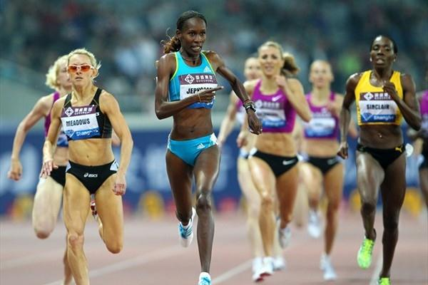 Solid 800m victory for Janeth Jepkosgei in Shanghai (Errol Anderson)