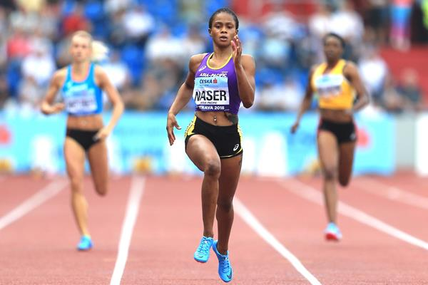Salwa Eid Naser en route to her dominating 400m victory at the Continental Cup (Getty Images)