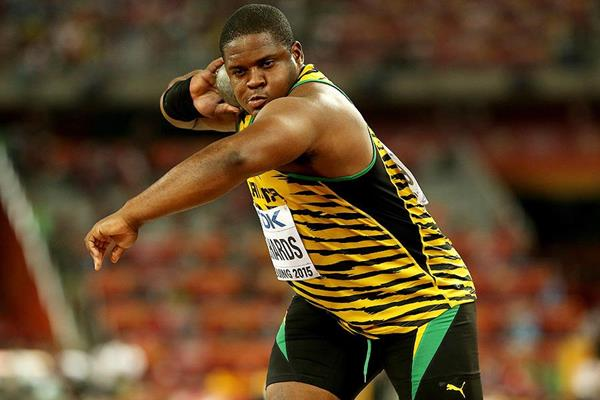 O'Dayne Richards in the shot put at the IAAF World Championships, Beijing 2015 (Getty Images)