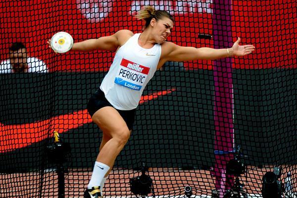Another London victory for Sandra Perkovic (Mark Shearman)