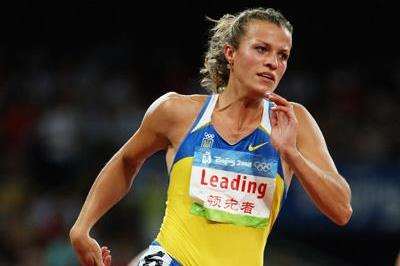Natalya Dobrynska sets yet another PB in the heptathlon, this time in the 200m (Getty Images)
