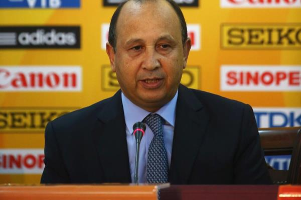 Abdeslam Ahizoune, president of the local organising committe for the IAAF Continental Cup, Marrakech 2014 (Getty Images)