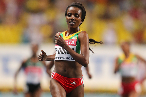 Tirunesh Dibaba wins at the IAAF World Championships (Getty Images)