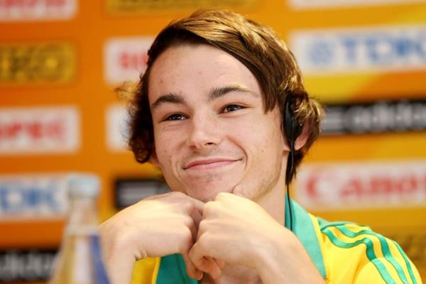 Jack Hale at the pre-event press conference for the IAAF World Youth Championships, Cali 2015 (Getty Images)