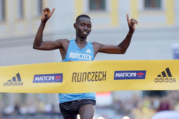 Josphat Kiprop Kiptis wins the Olomouc Half Marathon (Organisers)