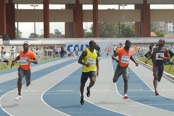 Antigua and Barbuda's Daniel Bailey speeds to 9.99 sec in Belem (Sérgio Oliveira/CBAt)