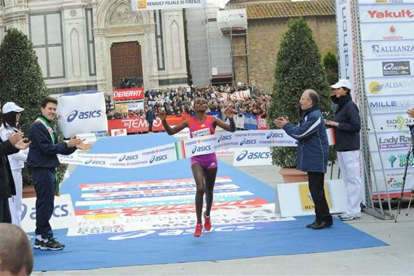 Comfortable victory for Shuru Diriba in Florence (Florence Marathon organisers)