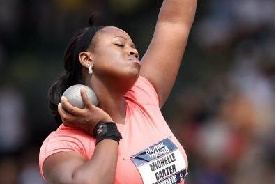 Michelle Carter at the US Olympic Trials (Getty Images)