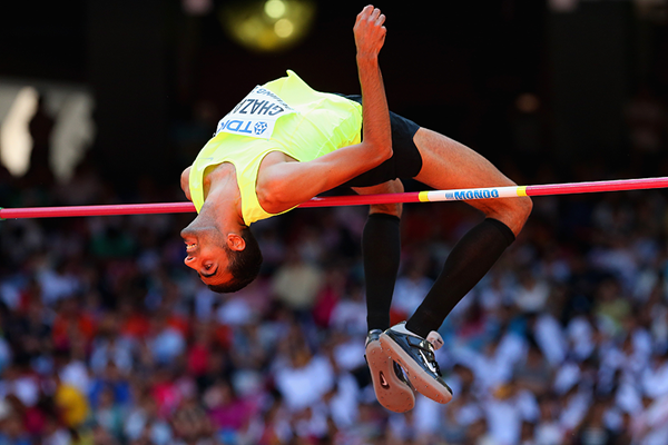 Majd Eddin Ghazal in the high jump at the IAAF World Championships Beijing2015 (Getty Images)