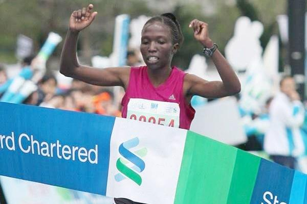 Kenya's Janet Rono, winner of the women's race (Organisers)