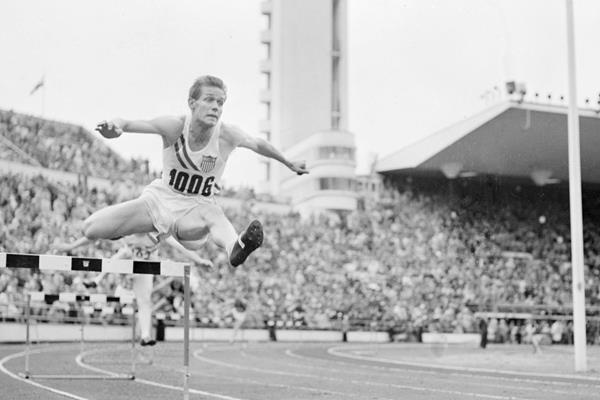 1952 Olympic 400m hurdles champion Charlie Moore (Lehtikuva)