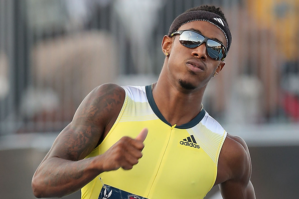 USA's Tony McQuay in action in the 400m (Getty Images)