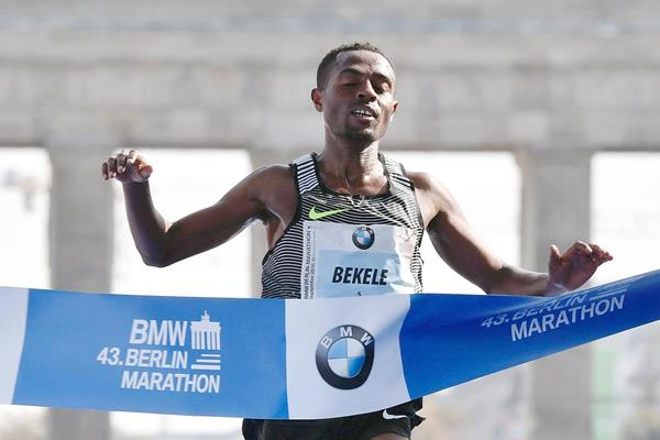 Kenenisa Bekele wins the Berlin Marathon (AFP / Getty Images)