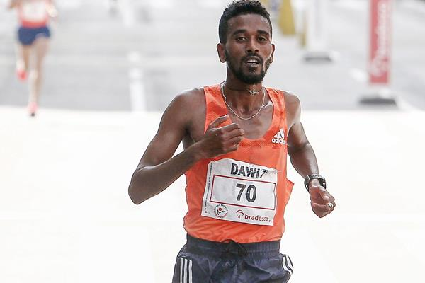 Bahrain's Dawit Fikadu in action (AFP / Getty Images)