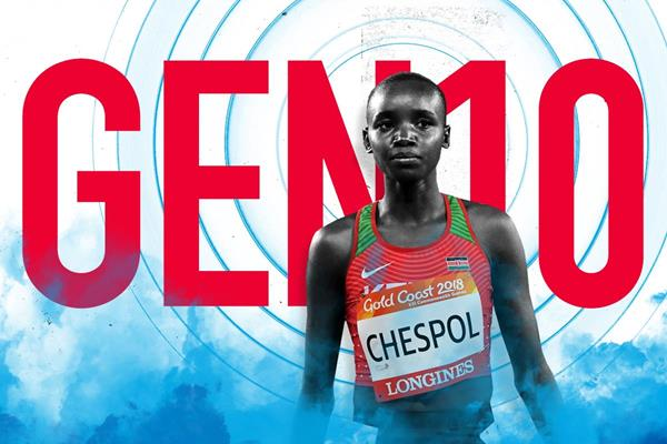 Gen 10: Kenyan steeplechaser Celliphine Chespol (Getty Images)