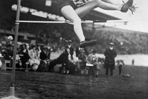 Ethel Catherwood (CAN) in the 1928 Olympic Games: Gold medallist women's High Jump (Getty Images)