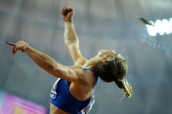 Valarie Allman in action at the 2019 World Championships (AFP/Getty Images)