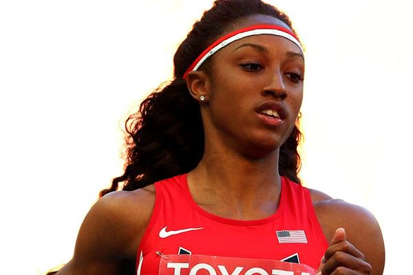 Brianna Rollins in the 100m hurdles at the IAAF World Championships Moscow 2013 (Getty Images)