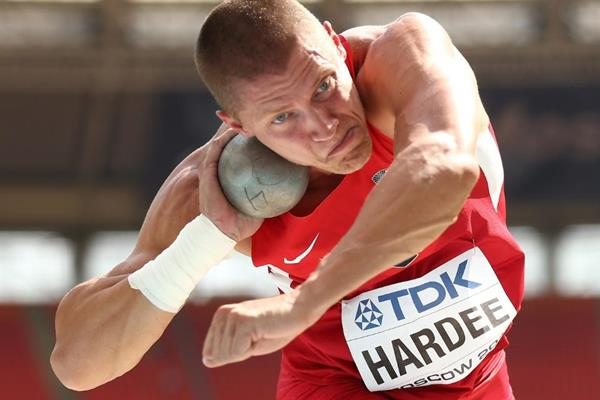 Trey Hardee in men's Decathlon Shot Put at the IAAF World Athletics Championships Moscow 2013 (Getty Images)