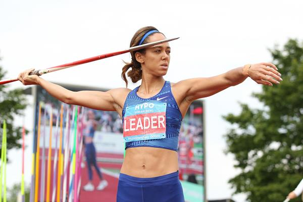 Katarina Johnson-Thompson in the heptathlon javelin at the Hypomeeting in Gotzis (Jean-Pierre Durand)