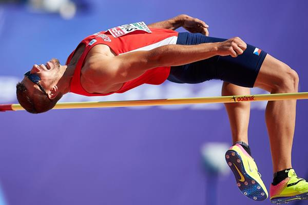 Jiri Sykora in the decathlon high jump (Getty Images)