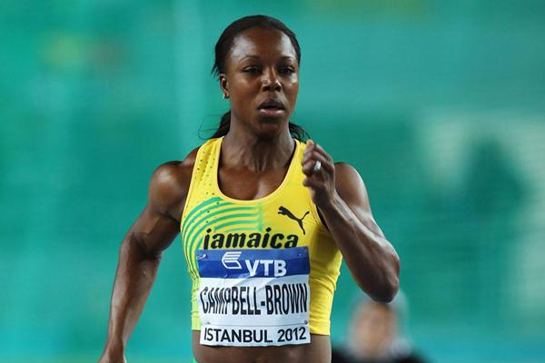 Veronica Campbell-Brown of Jamaica competes in the Women's 60 Metres first round during day two - WIC Istanbul (Getty Imaes)