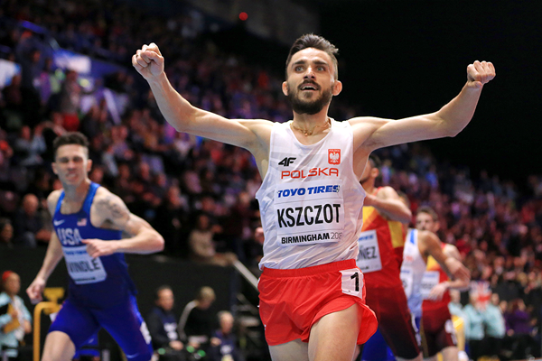 Adam Kszczot wins the 800m at the IAAF World Indoor Championships Birmingham 2018 (Getty Images)
