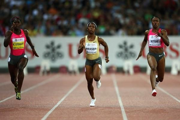 Camelita Jeter upsets Kerron Stewart's Golden League hopes in Zurich (Getty Images)