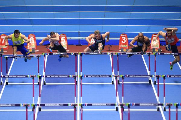 The heptathlon 60m hurdles at the IAAF World Indoor Championships Birmingham 2018 (Getty Images)