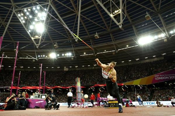 Javelin winner Johannes Vetter at the IAAF World Championships London 2017 (Getty Images)