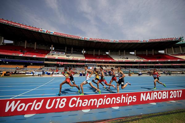 Action during the boys' 1500m heats at the IAAF U18 World Championships Nairobi 2017 (Getty Images)