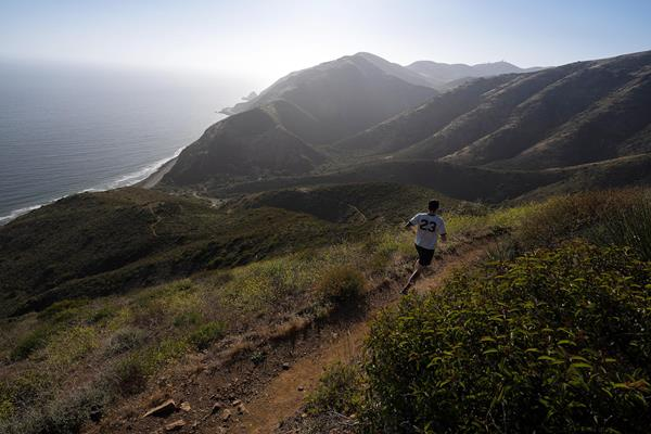A mountain runner in action (Getty Images)
