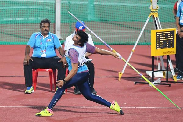 Neeraj Chopra, the javelin winner at the Asian Championships (AFP / Getty Images)
