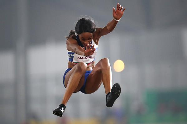 Chantel Malone sails to long jump victory at the Pan-American Games in Lima (Getty Images)