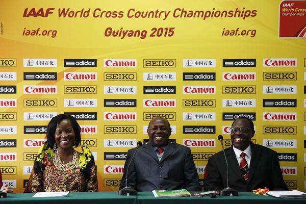 Members of the Kampala 2017 organising committee at the IAAF World Cross Country Championships, Guiyang 2015 (IAAF)